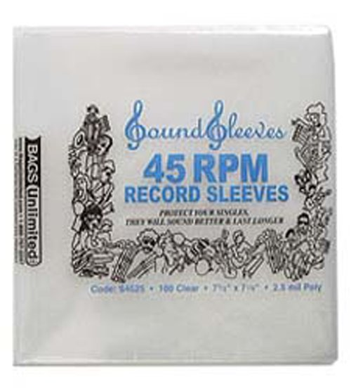 45 Plastic Sleeves 100 25mil Plastic 45 Sleeves Record Care