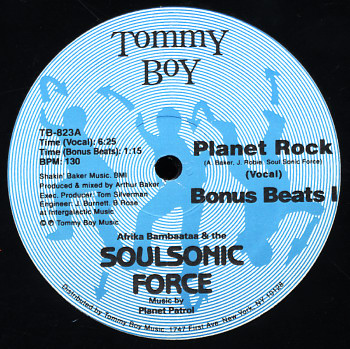 Afrika Bambaataa Amp The Soul Sonic Force Planet Rock Voc