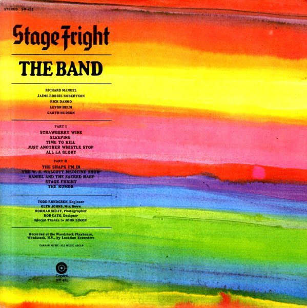 Band Stage Fright Lp Vinyl Record Album Dusty