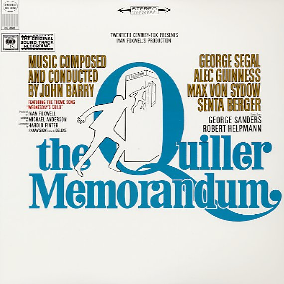 John Barry Matt Monro Quiller Memorandum Lp Vinyl