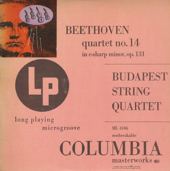 Quartet No 14 In C Sharp Minor Op 131 - Budapest String Quartet