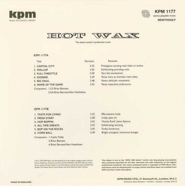 Hot Wax - KPM 1177 (180 gram pressing)