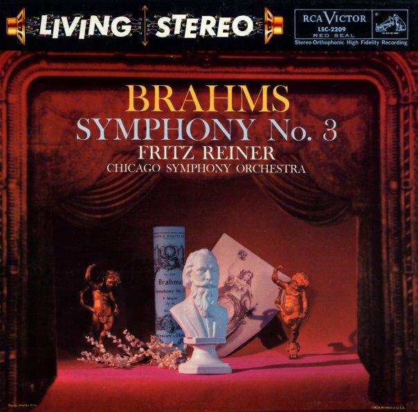brahms symphony no 3 in f op 90 reiner chicago symphony orchestra lp vinyl record album. Black Bedroom Furniture Sets. Home Design Ideas