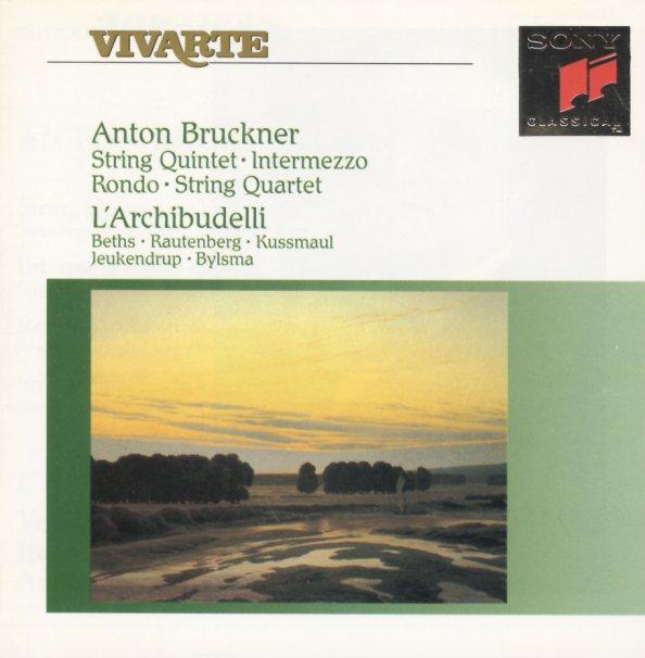 String Quintet In F/Intermezzo In D Minor/Rondo In C Minor For String  Quartet/String Quartet In C Minor - L'Archibudelli