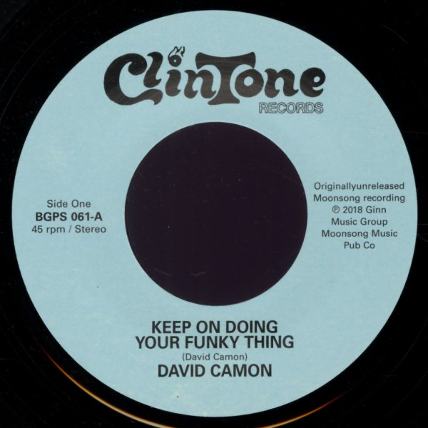 David Camon/Johnny Jacobs : Keep On Doing Your Funky Thing
