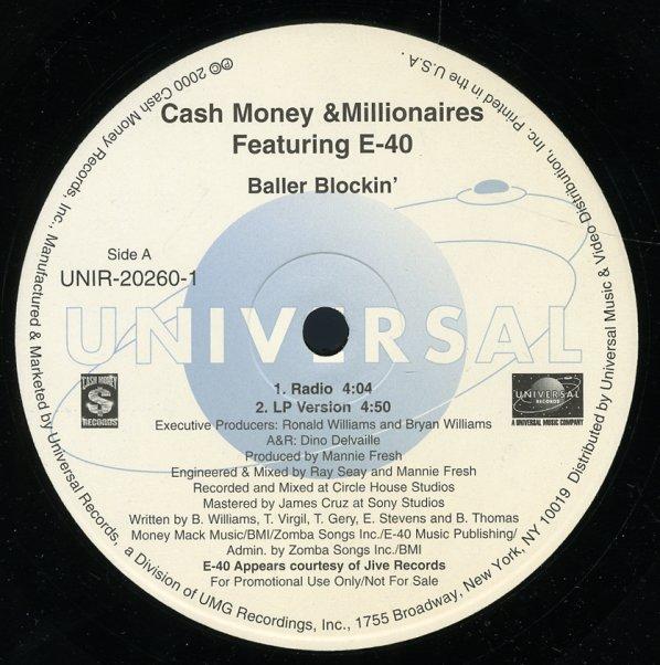 Cash Money Millionaires : Baller Blockin (radio, LP, inst ...