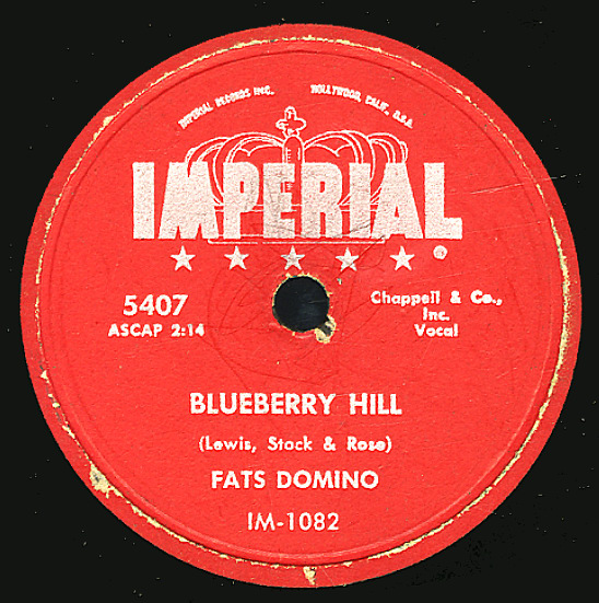 Fats Domino Blueberry Hill Honey Chile 78 Rpm Vinyl