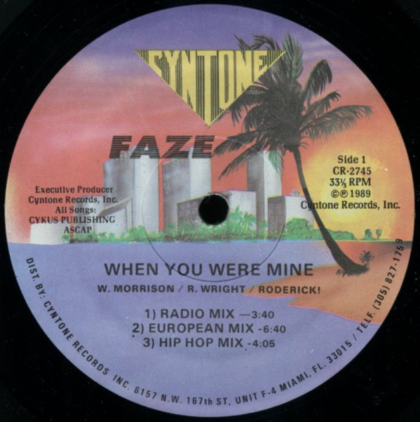 When You Were Mine (radio mix, european mix, hip hop mix, orchapella, inst,  partridge mix)