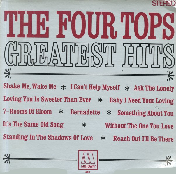 Four Tops Four Tops Greatest Hits Lp Vinyl Record