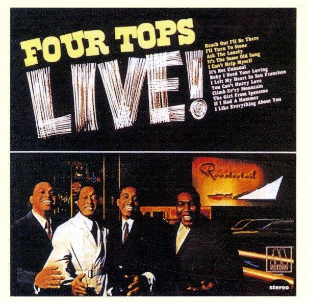 Four Tops Four Tops Live Lp Vinyl Record Album