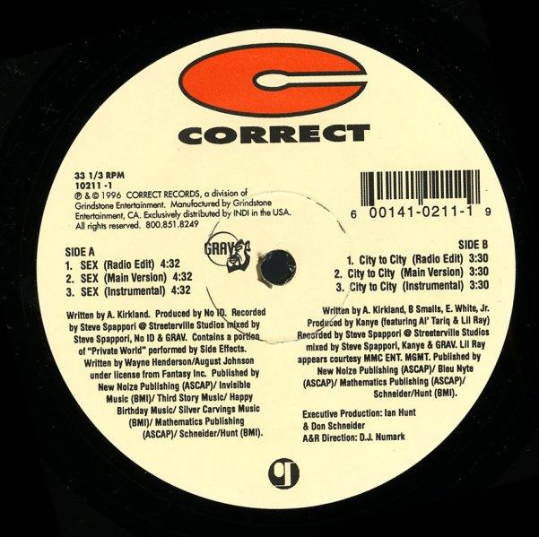 Grav : Sex (radio, main, inst)/City To City (radio, main, inst) (12-inch, Vinyl record) -- Dusty Groove is Chicago's Online Record Store Grav : Sex (radio, main, inst)/City To City (radio, main, inst) (12-inch, Vinyl record) - 웹