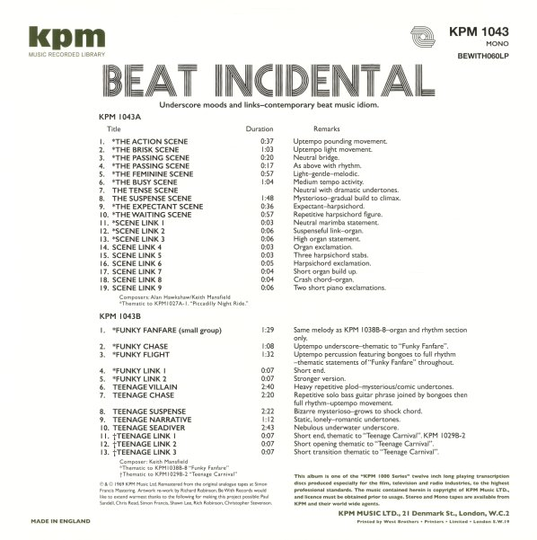 KPM -- All Categories (LPs, CDs, Vinyl Record Albums) -- Dusty