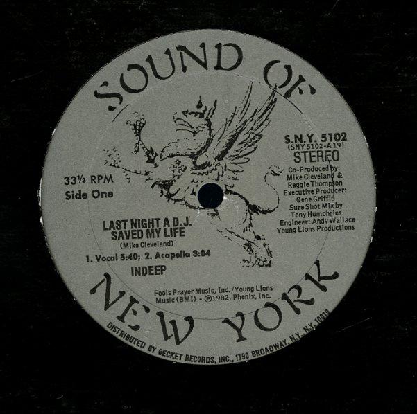 Last Night A DJ Saved My Life (voc, acapella)/DJ Delight/bonus sound effect  tracks