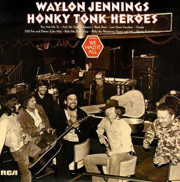 Waylon Jennings Honky Tonk Heroes Lp Vinyl Record