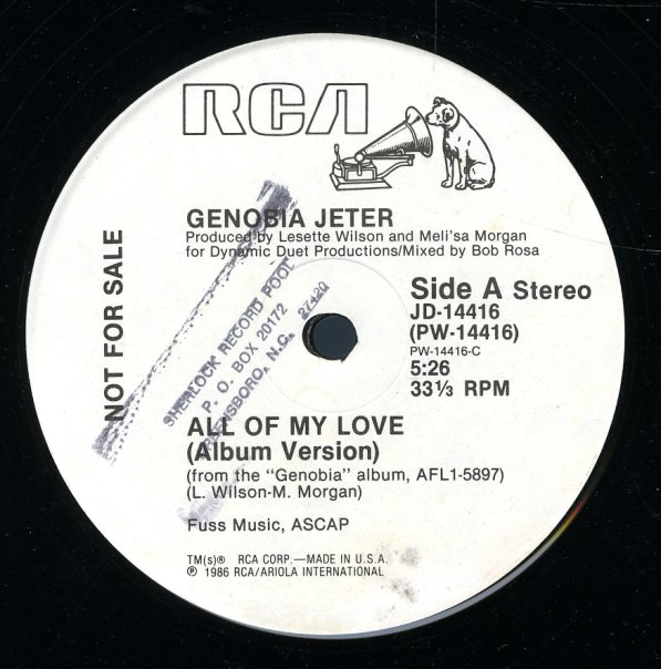 Genobia Jeter All Of My Love