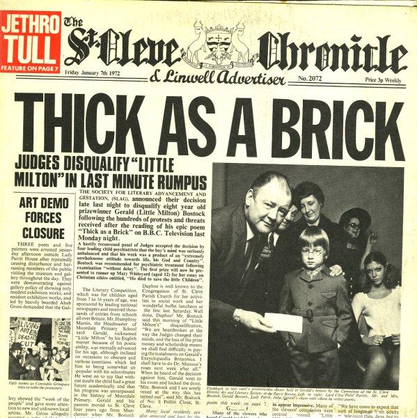 Jethro Tull Thick As A Brick Lp Vinyl Record Album