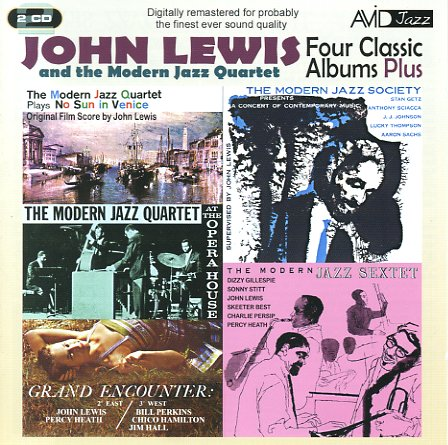 John lewis four classic albums plus modern jazz sextet for Classic house music albums