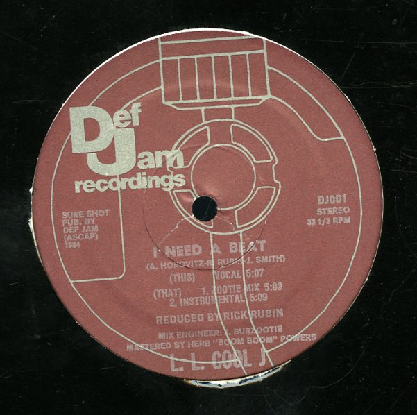 Ll Cool J I Need A Beat Voc Zootie Mix Inst 12 Inch