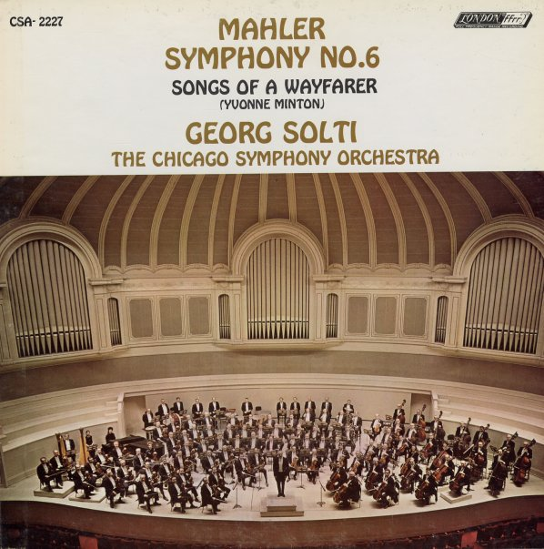 mahler symphony no 6 in a minor lieder eines fahrenden gesellen songs of a wayfarer yvonne. Black Bedroom Furniture Sets. Home Design Ideas