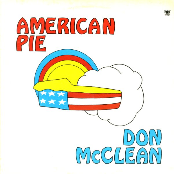 don mclean american pie right on lp vinyl record. Black Bedroom Furniture Sets. Home Design Ideas