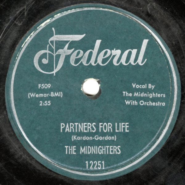 Midnighters : Partners For Life/Sweet Mama Do Right (78 RPM