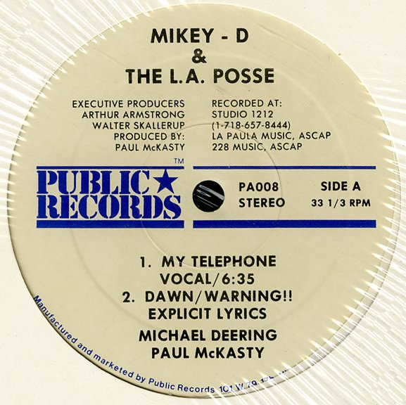 Mikey D The LA Posse My Telephone Bust A Rhyme Mike