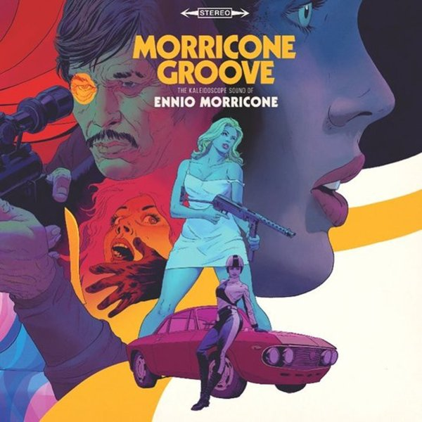 Morricone Groove - The Kaleidoscope Sound Of Ennio Morricone 1964 to 1977  (180 gram red & yellow marbled vinyl pressing)