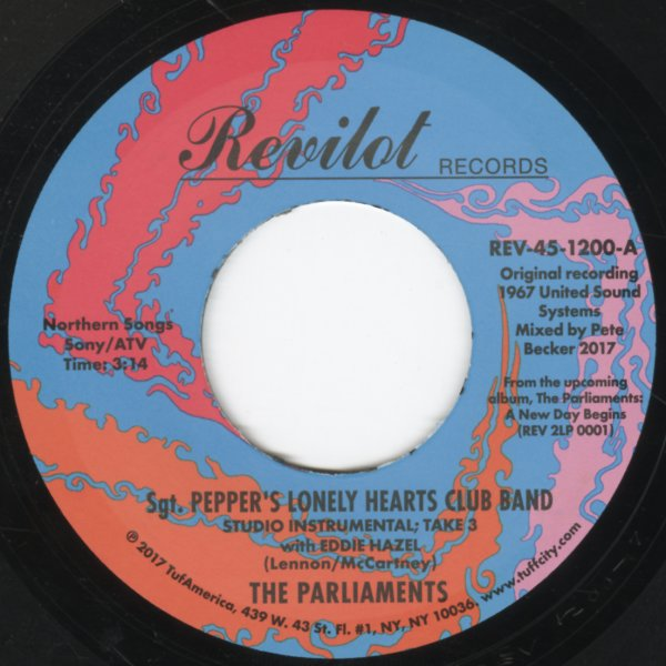 Parliaments : Sgt Pepper's Lonely Hearts Club Band (studio instrumental  takes 3 & 8) (7-inch, Vinyl record)