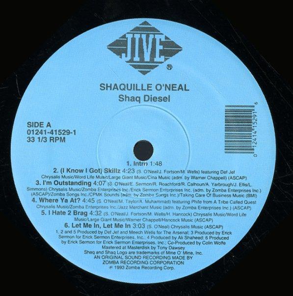 Shaquille O Neal Shaq Diesel Lp Vinyl Record Album