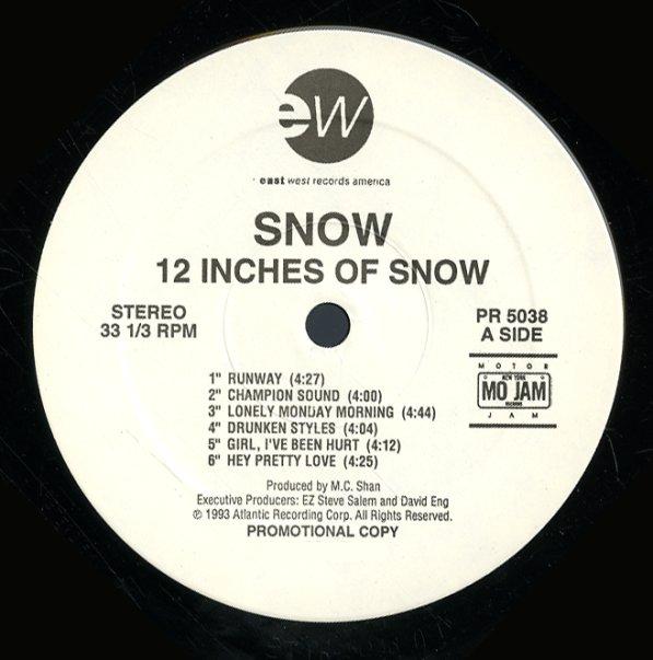 Snow 12 Inches Of Snow Lp Vinyl Record Album Dusty