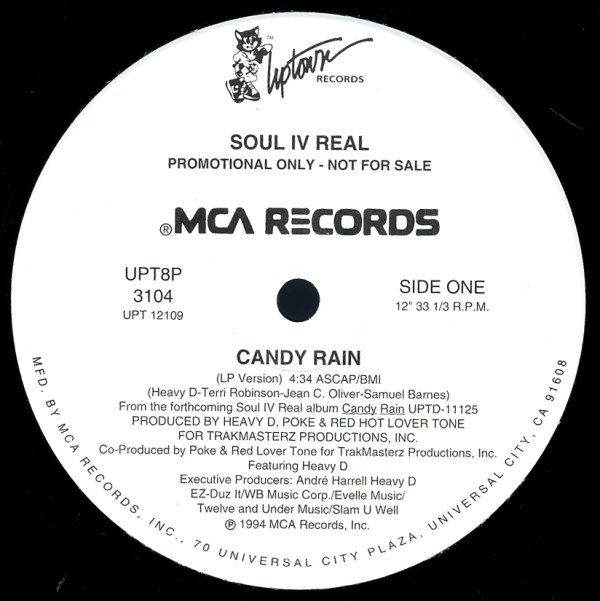 Candy Rain (lp, heavy d & trackmasterz mix, swing of things corona mix, big  daddy/go-go mix)