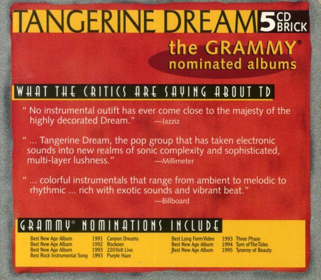 tangerine dream best album