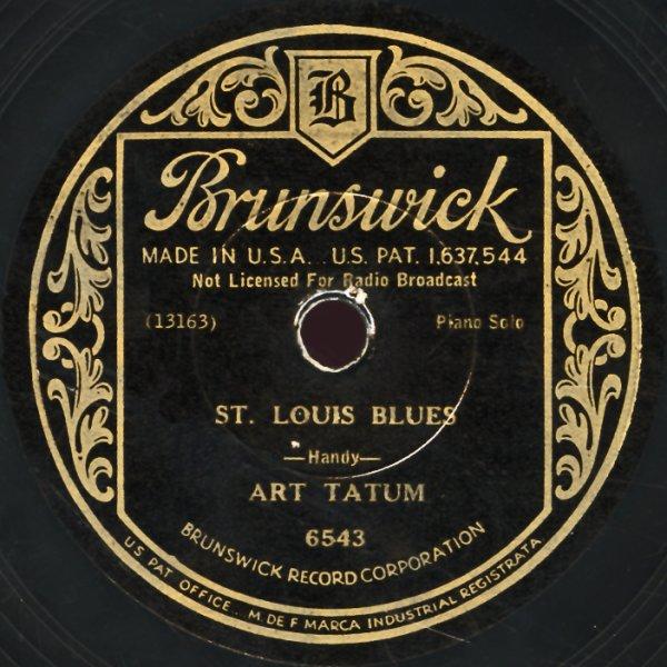 Art tatum st louis blues tiger rag 78 rpm vinyl record for Craft stores st louis