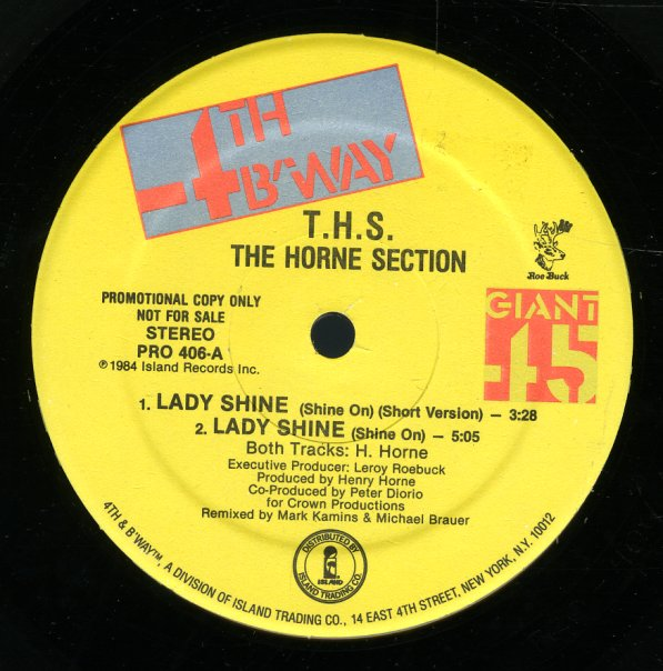 THS The Horne Section Lady Shine Shine On