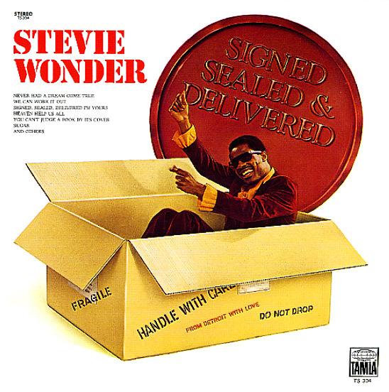 Stevie Wonder Signed Sealed Amp Delivered Lp Vinyl