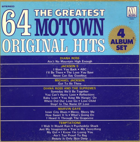Various Greatest 64 Motown Original Hits 4 Lp Box Lp