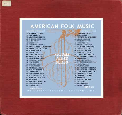 Various Harry Smith S Anthology Of American Folk Music
