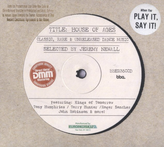 Various house of ages classic rare unreleased for Classic house cd