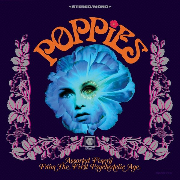 Various : Poppies – Assorted Finery From The First Psychedelic Age (red  vinyl pressing) (2019 Record Store Day Release) (LP, Vinyl record album)